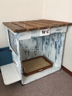 愛犬用手作りトイレの写真・画像素材[1763690]