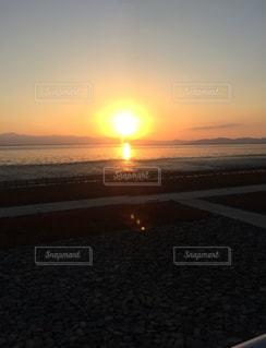 夕陽の写真・画像素材[401087]