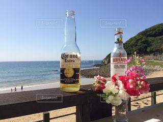 海,お酒,晴天,快晴,コロナ,コロナビール