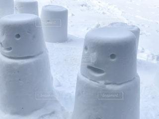 可愛い雪像の写真・画像素材[1656067]