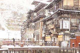 冬の銀山の写真・画像素材[3702118]