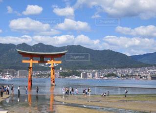 宮島の大鳥居の写真・画像素材[715634]