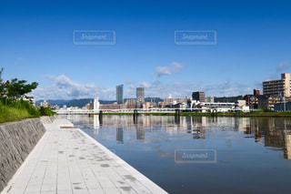 台風一過の広島の風景の写真・画像素材[747115]
