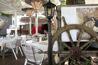 白いカフェの写真・画像素材[920233]