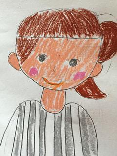 娘が描いた似顔絵の写真・画像素材[691884]