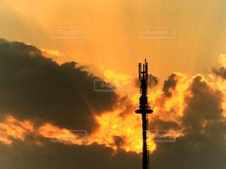 暗い曇り空の雲の写真・画像素材[753968]