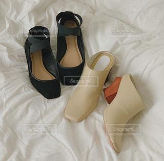 秋の靴の写真・画像素材[2397314]