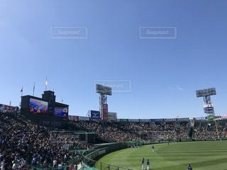 阪神甲子園球場 外野席レフトの写真・画像素材[1062460]