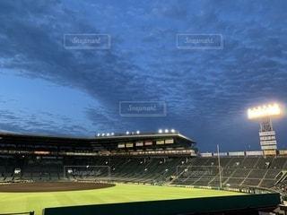 試合後の甲子園球場の写真・画像素材[1486962]