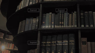 クローズ アップ図書の棚のの写真・画像素材[1476973]