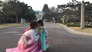 #韓国#チマチョゴリ#ソウル#の写真・画像素材[413777]