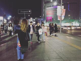 #韓国#買い物#ナイト#ソウル#親子の写真・画像素材[413779]