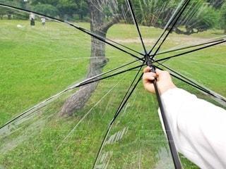 傘をひらくの写真・画像素材[3399063]