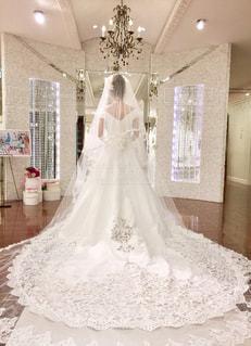 ウエディングドレスの写真・画像素材[985995]