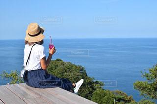 最高の景色で一休みの写真・画像素材[1443057]