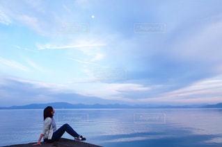 湖の写真・画像素材[534347]