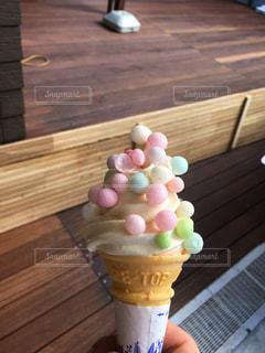 ソフトクリームの写真・画像素材[424008]