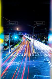レーザービーム 鳥取県 産業道路の写真・画像素材[2163638]