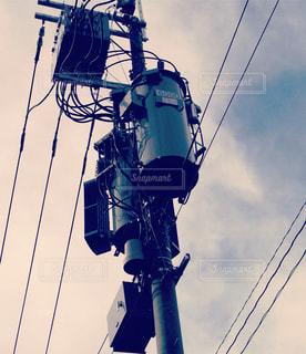 電柱の写真・画像素材[438967]