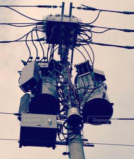 電柱の写真・画像素材[438971]