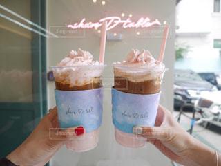 韓国カフェ shareDtable*°   ピンクラテがかわいい♡の写真・画像素材[966832]