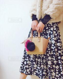 花柄スカートの写真・画像素材[897159]
