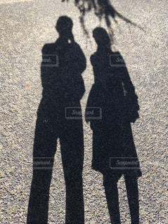 シャドーカップルの写真・画像素材[2394724]