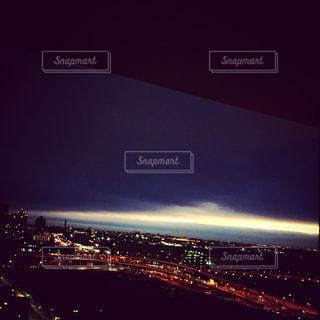 夜空と夜景の写真・画像素材[148819]