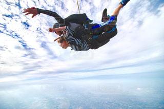 スカイダイビングの写真・画像素材[684077]