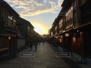 茶屋街の夕暮れの写真・画像素材[1317560]
