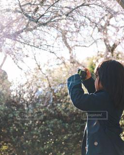 カメラ女子の写真・画像素材[1141092]