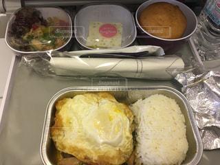 ある時の機内食の写真・画像素材[1308078]