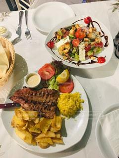 ギリシャでの食事の写真・画像素材[1508929]