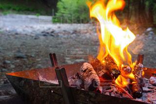 火事のクローズアップの写真・画像素材[2204143]