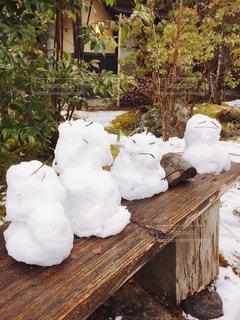 雪だるまたちの写真・画像素材[982641]