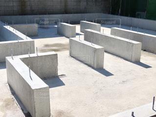 一戸建ての基礎工事の写真・画像素材[3036847]