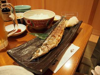 秋の味覚秋刀魚の焼魚定食の写真・画像素材[3294268]