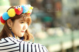 帽子をかぶっている女性の写真・画像素材[920621]