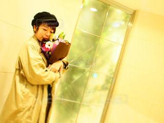 花束のプレゼントの写真・画像素材[1116377]