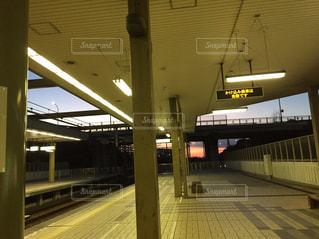 電車の駅の写真・画像素材[1024292]