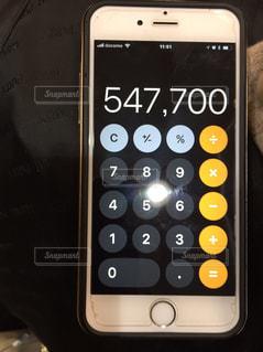 携帯電話の画面の写真・画像素材[1024294]