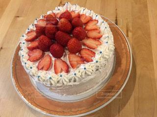 美味しそうなイチゴケーキの写真・画像素材[450063]
