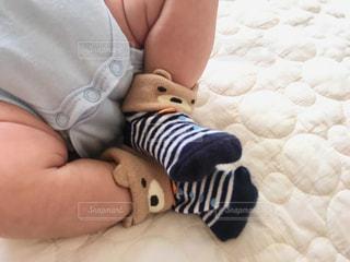 赤ちゃんの靴下の写真・画像素材[1157252]