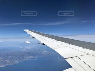 飛行機から見た富士山の写真・画像素材[2022863]