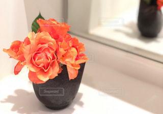 テーブルの上の花の花瓶の写真・画像素材[1192154]