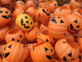 かぼちゃのおばけの集まりの写真・画像素材[1551300]