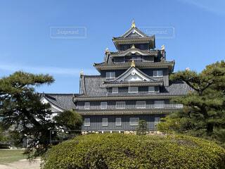 岡山城の天守閣の写真・画像素材[4367126]