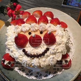 #サンタ#手作り#ケーキの写真・画像素材[472674]