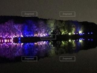 宮沢湖イルミネーションの写真・画像素材[1819056]