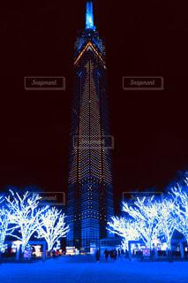 福岡タワーのライトアップ - No.896041